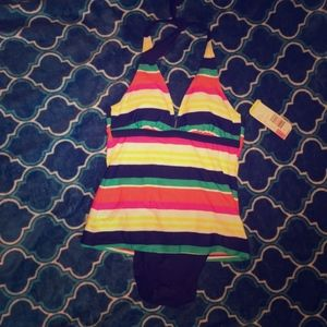 Tropical escape one piece swimsuit   NWT
